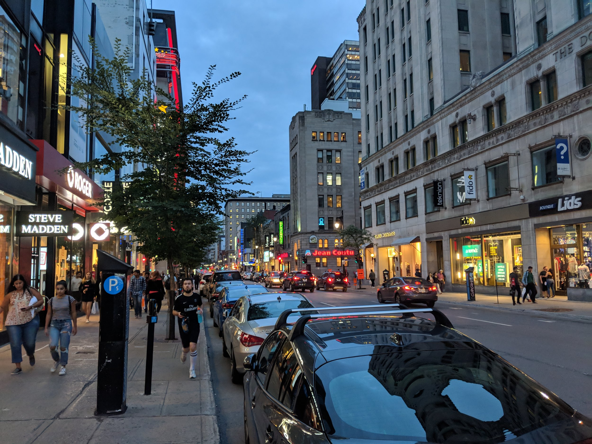 Beautiful! Montreal downtown at night.