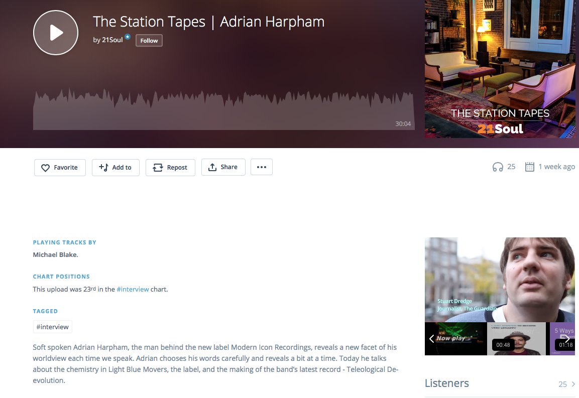 This week on The Station Tapes, Louis speaks with    Adrian Harpham    about the chemistry in Light Blue Movers, his label Modern Icon Recordings, and the making of the band's latest record - teleological Deevolution. Tune in here: