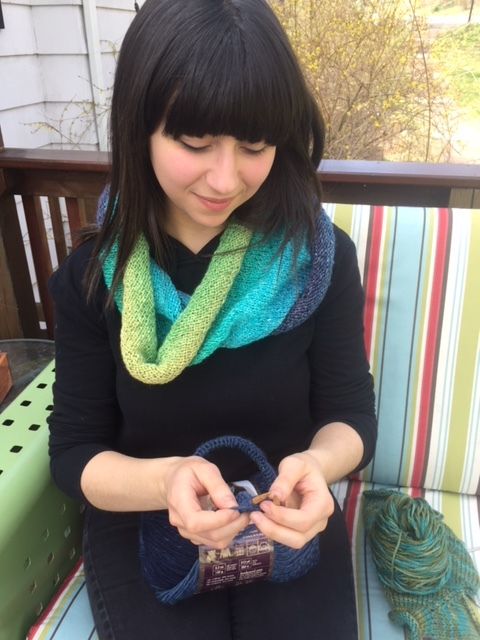 And here's the worsted version:  Craftivist Cowl # 2