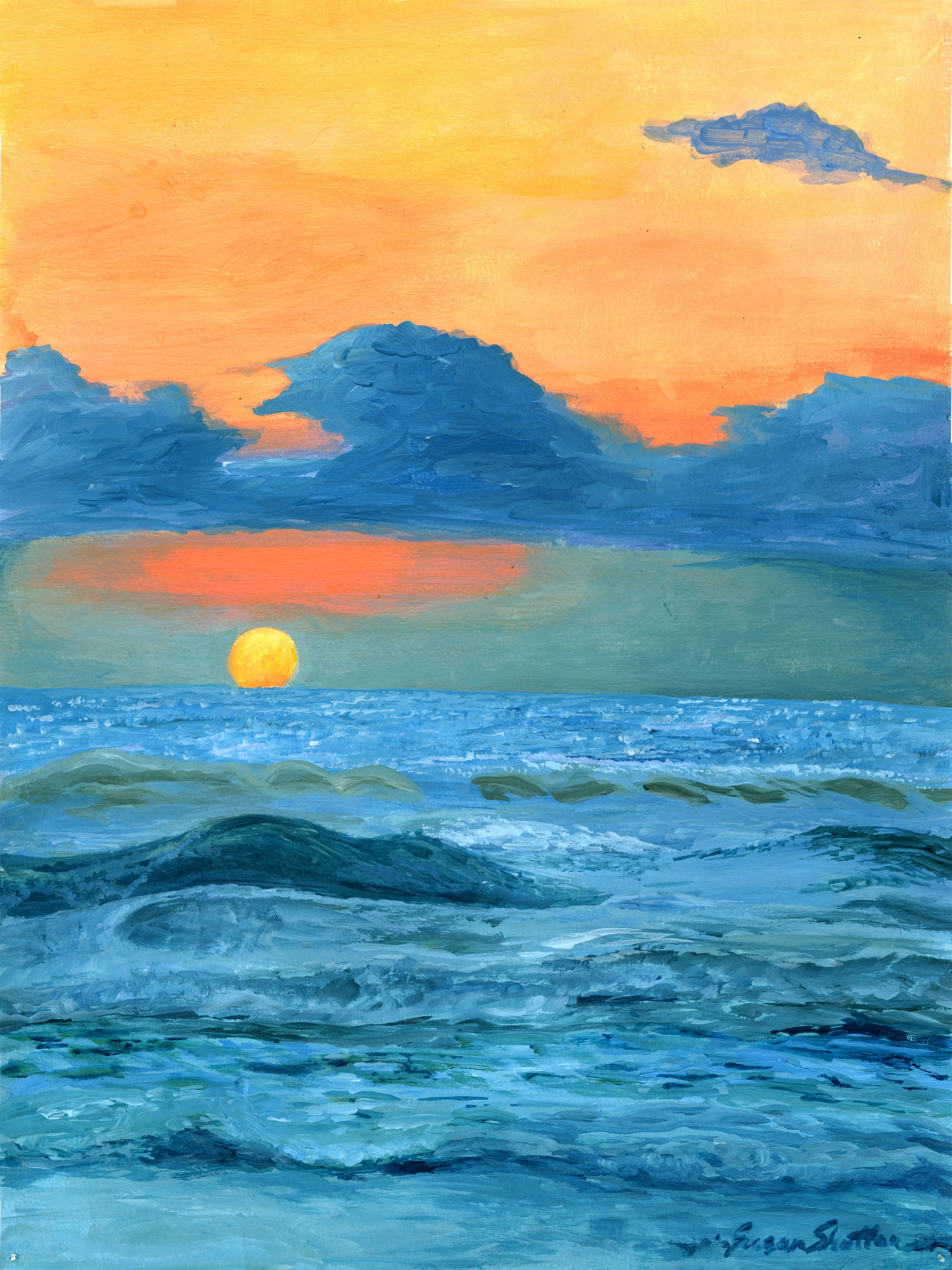 LOVING IN THE MOMENT  nothing better than a beautiful sunset at the end of a summer day  14x 19 Summer 2015