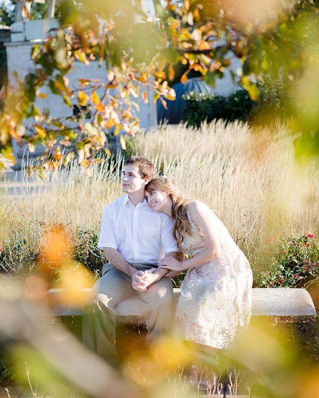 I love this time of the year with the changing colors of the leaves. This is a favorite from a recent engagement session with the sweetest couple.