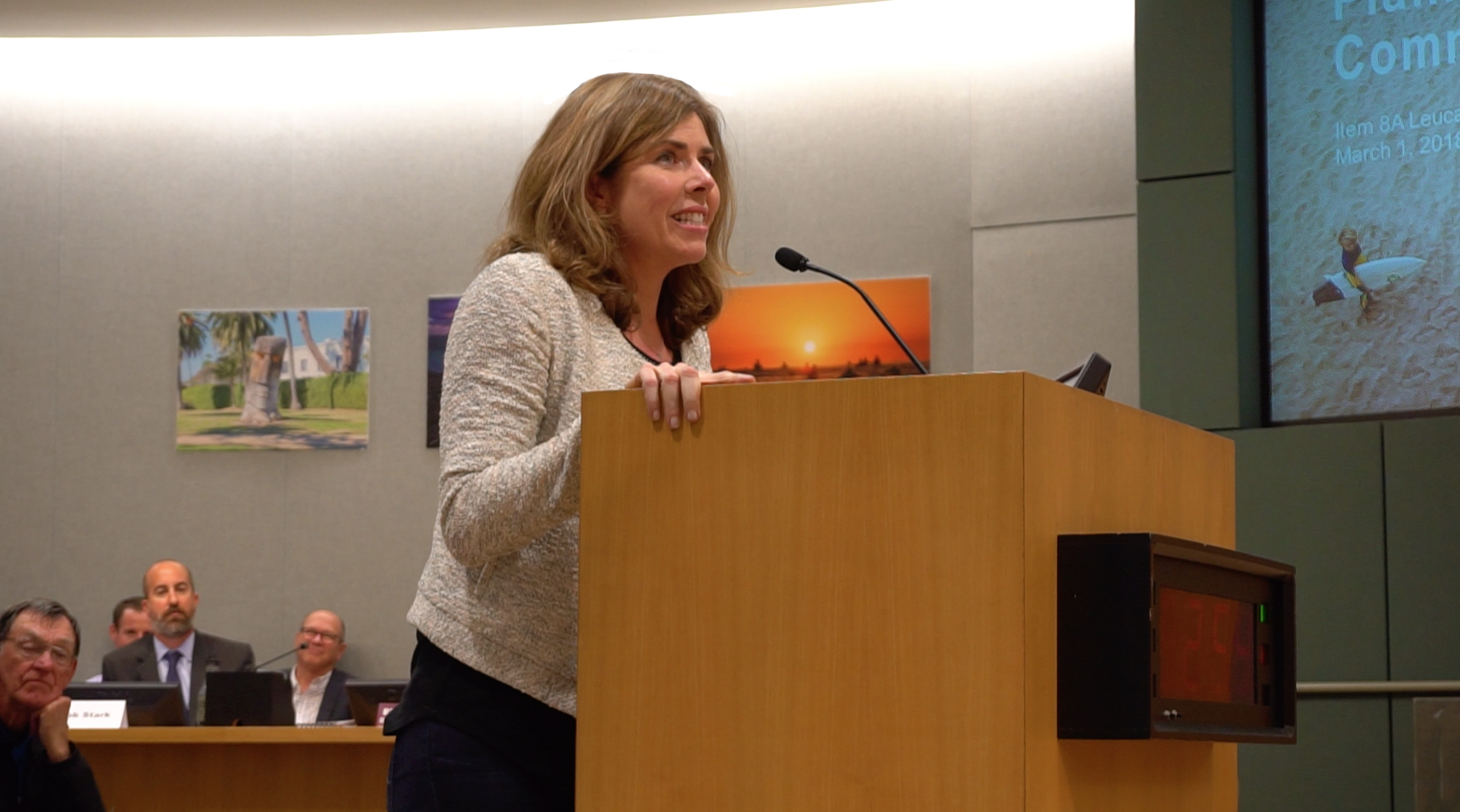 Tammy at the encinitas city planning commission