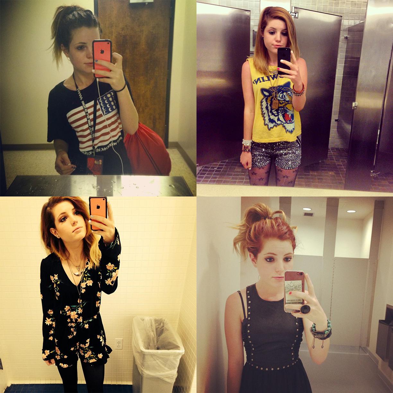 [Alt-pop band Echosmith lead singer Sydney Sierota. At 17 years old, a selfie machine.]