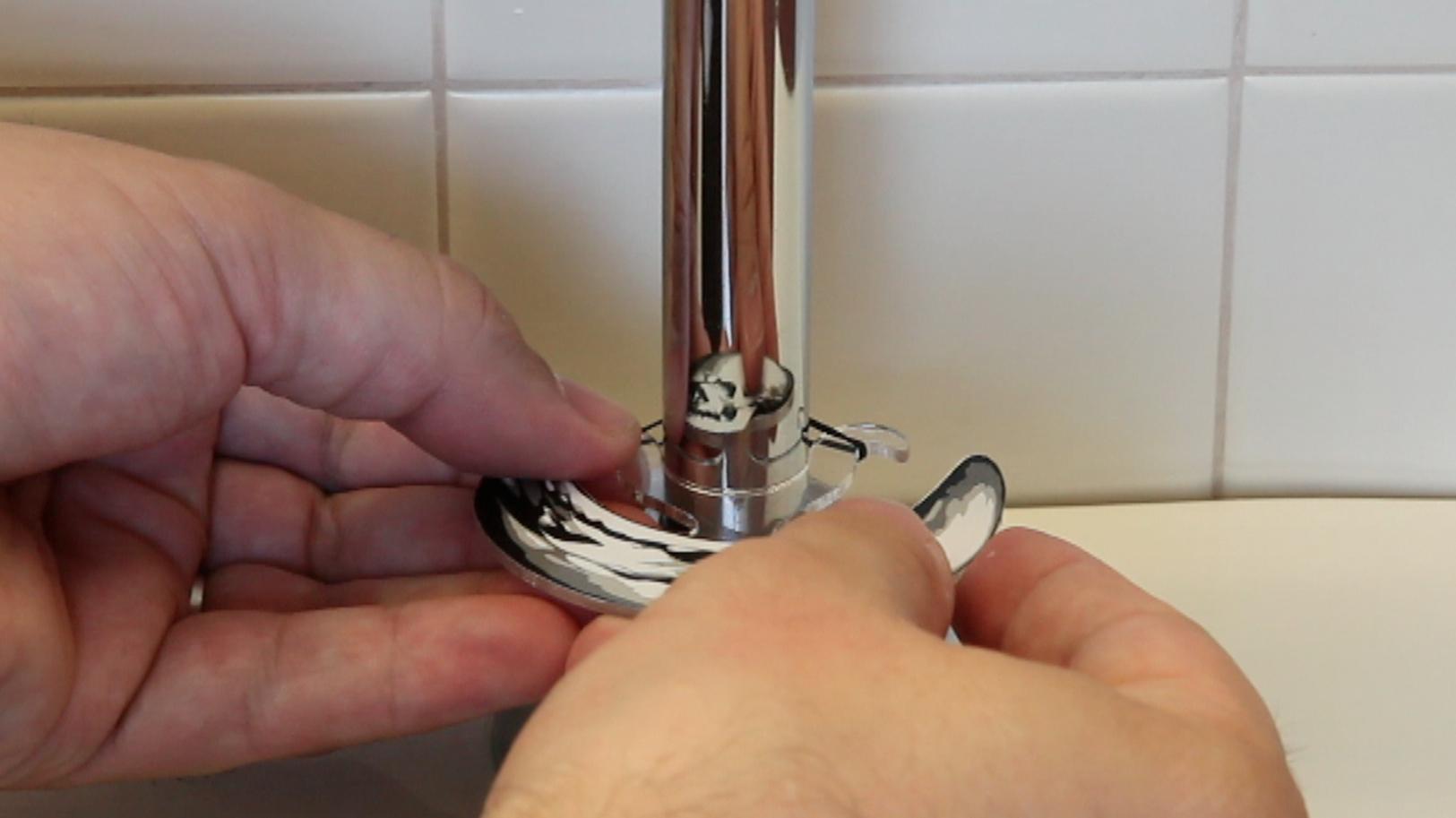 Installing  Memento Mori (Catoptric) on a chrome pipe