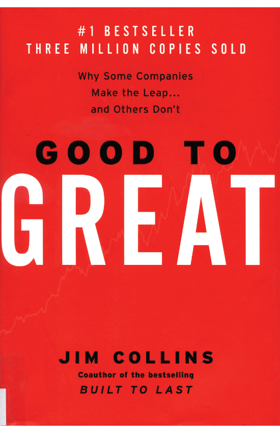 Good to Great  by Jim Collins   Making the transition from good to great doesn't require a high-profile CEO, the latest technology, innovative change management, or even a fine-tuned business strategy. At the heart of those rare and truly great companies was a corporate culture that rigorously found and promoted disciplined people to think and act in a disciplined manner.  Peppered with dozens of stories and examples from the great and not so great, the book offers a well-reasoned road map to excellence that any organization would do well to consider.