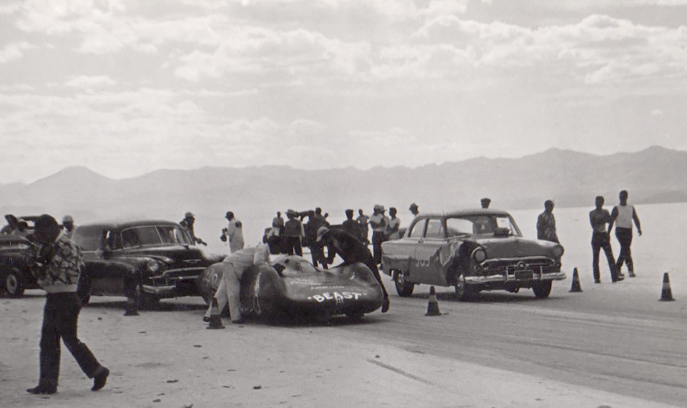 Beast III at the starting line at Bonneville. Photo donated by Mike Nichols