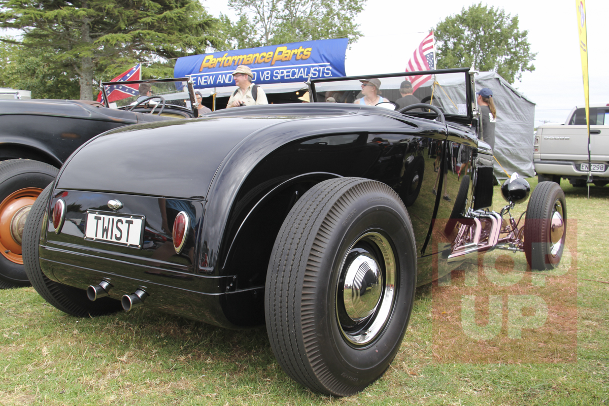 Nigel Oliver's neat Model A roadster was built at Rocket Speed Equipment and features rolled pans and belly pans concealing the early Ford flathead drive train.