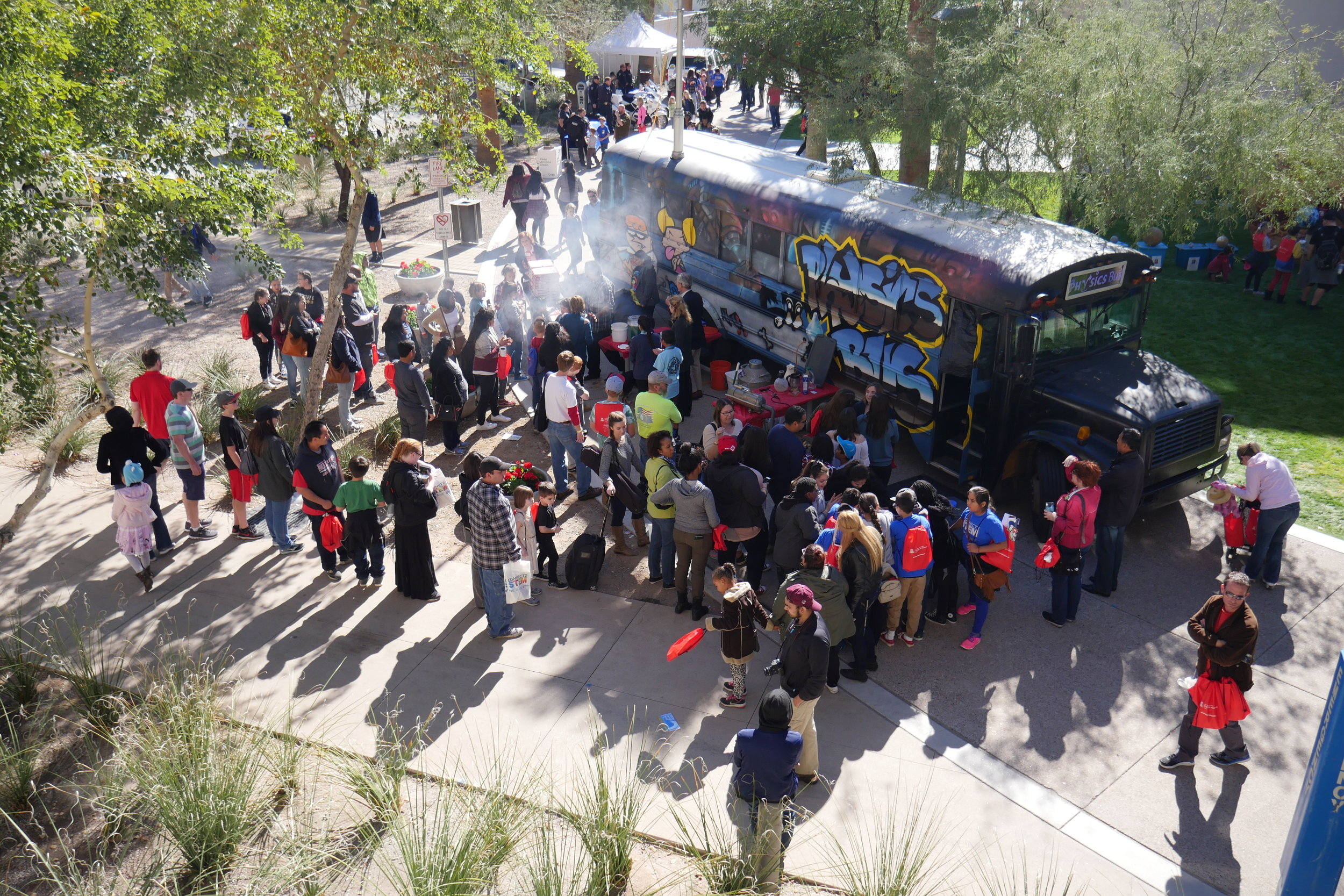 Over 5,000 people are estimated to have attended the 2017 Connect2STEM event in Downtown Phoenix. (Nicholas Serpa/DD)