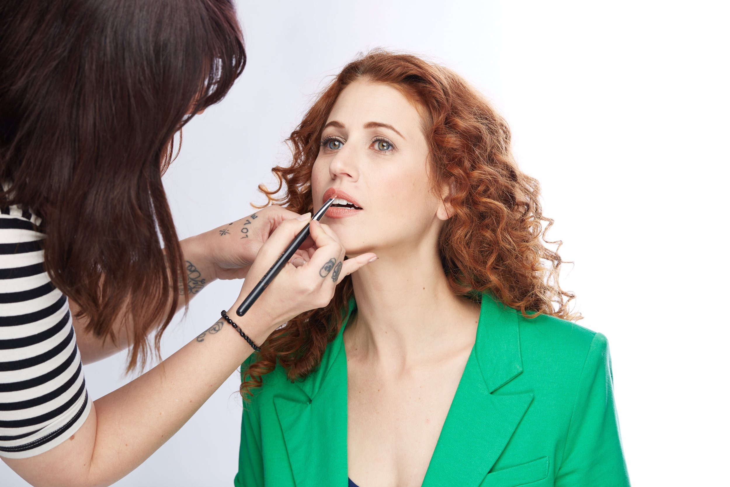 BTS. Touch up. Portrait by Wes and Alex Photography.