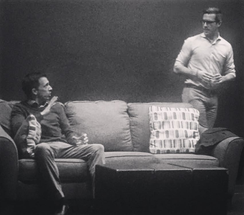 David Loker and Andrew Laing, in a scene from Spike Heels (by Theresa Rebeck) - 3.13.17