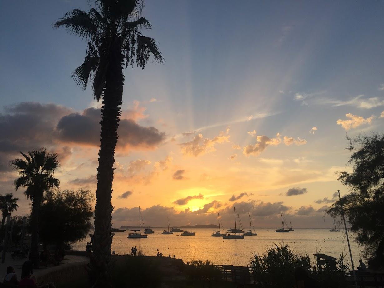 Sunsets were something else in Ibiza.