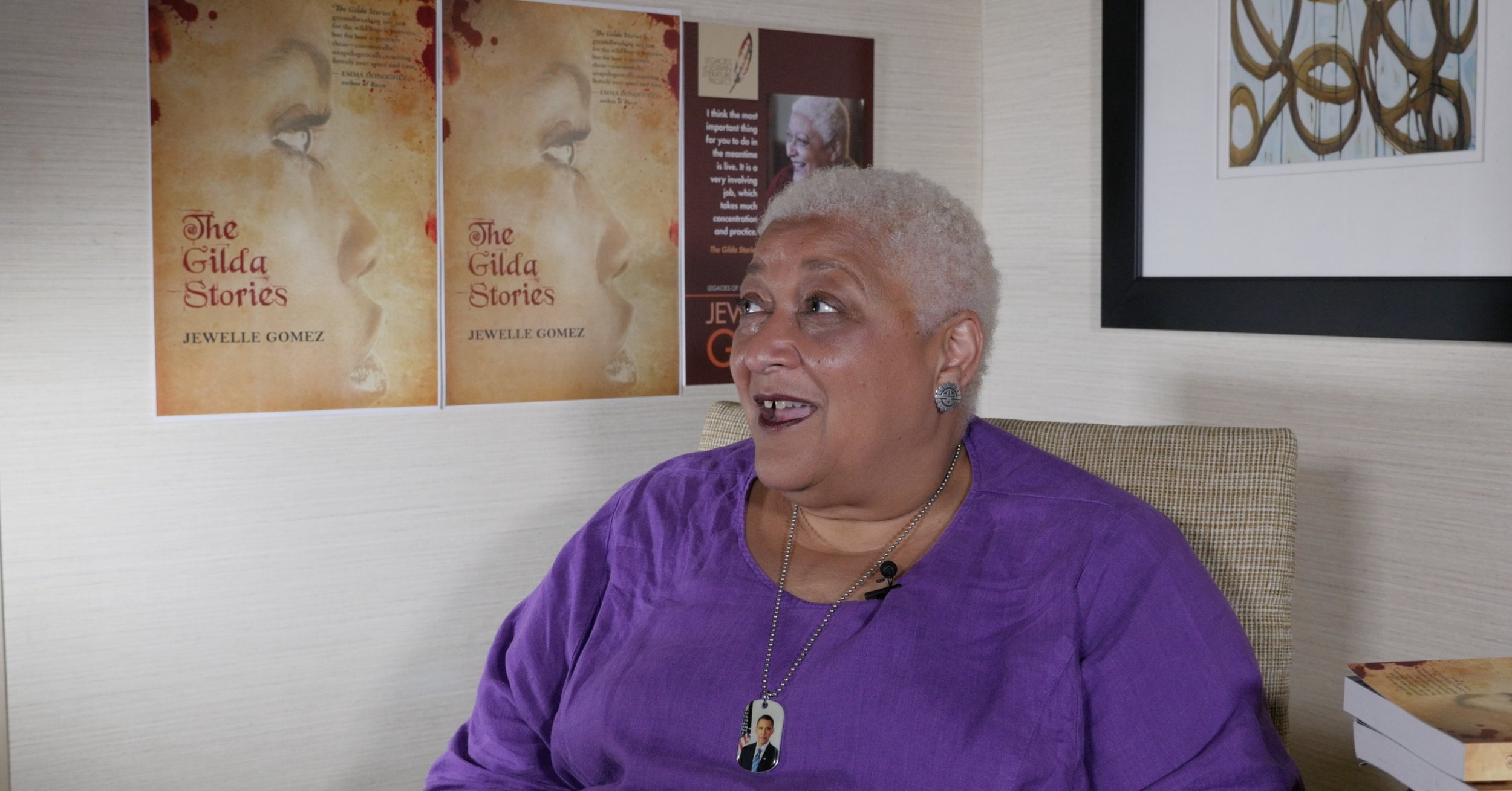 Jewelle Gomez gives a spirited interview