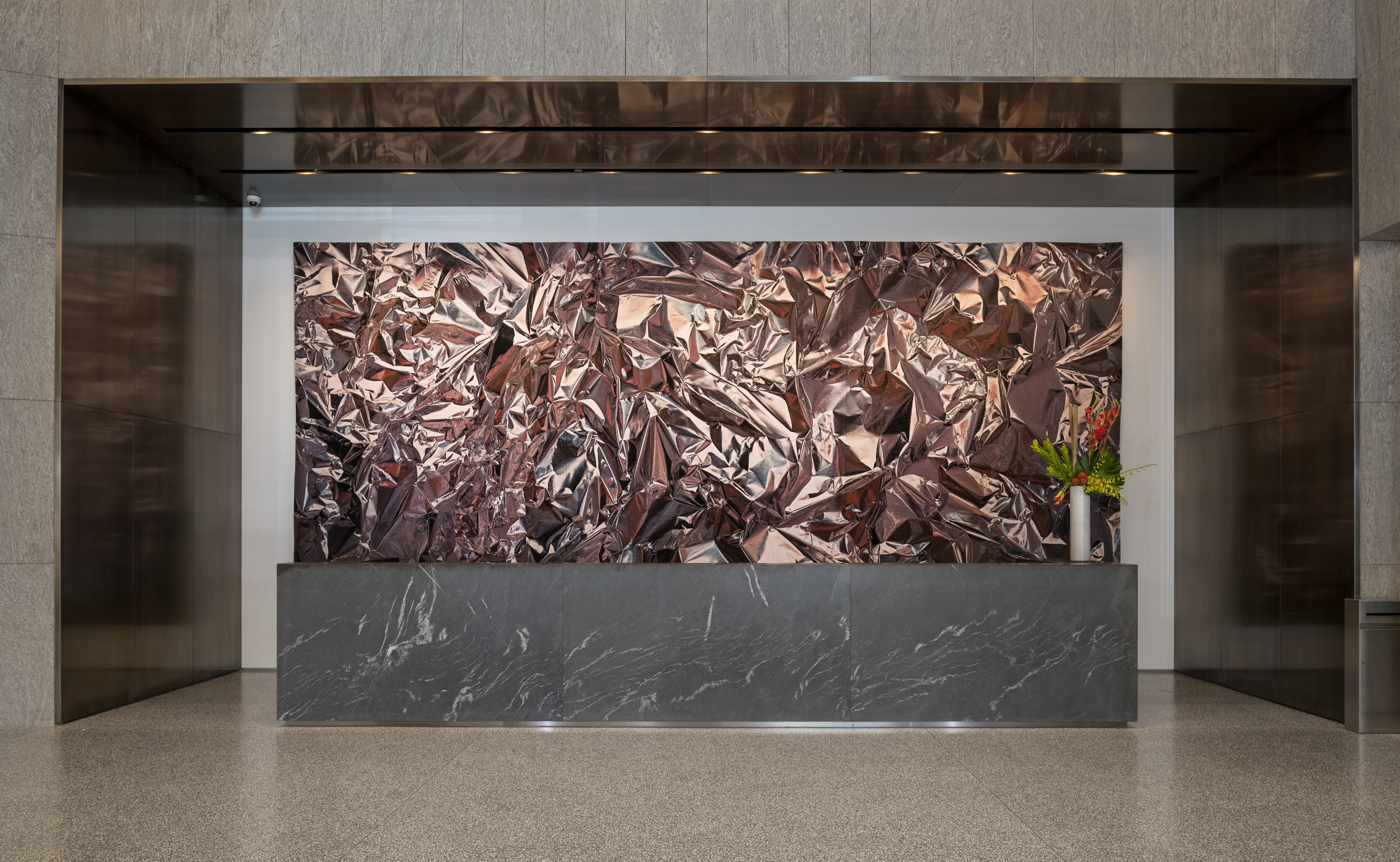 Artist: Pae White,  New Neighbors, REDDISH,  2018, Location: Washington, D.C.