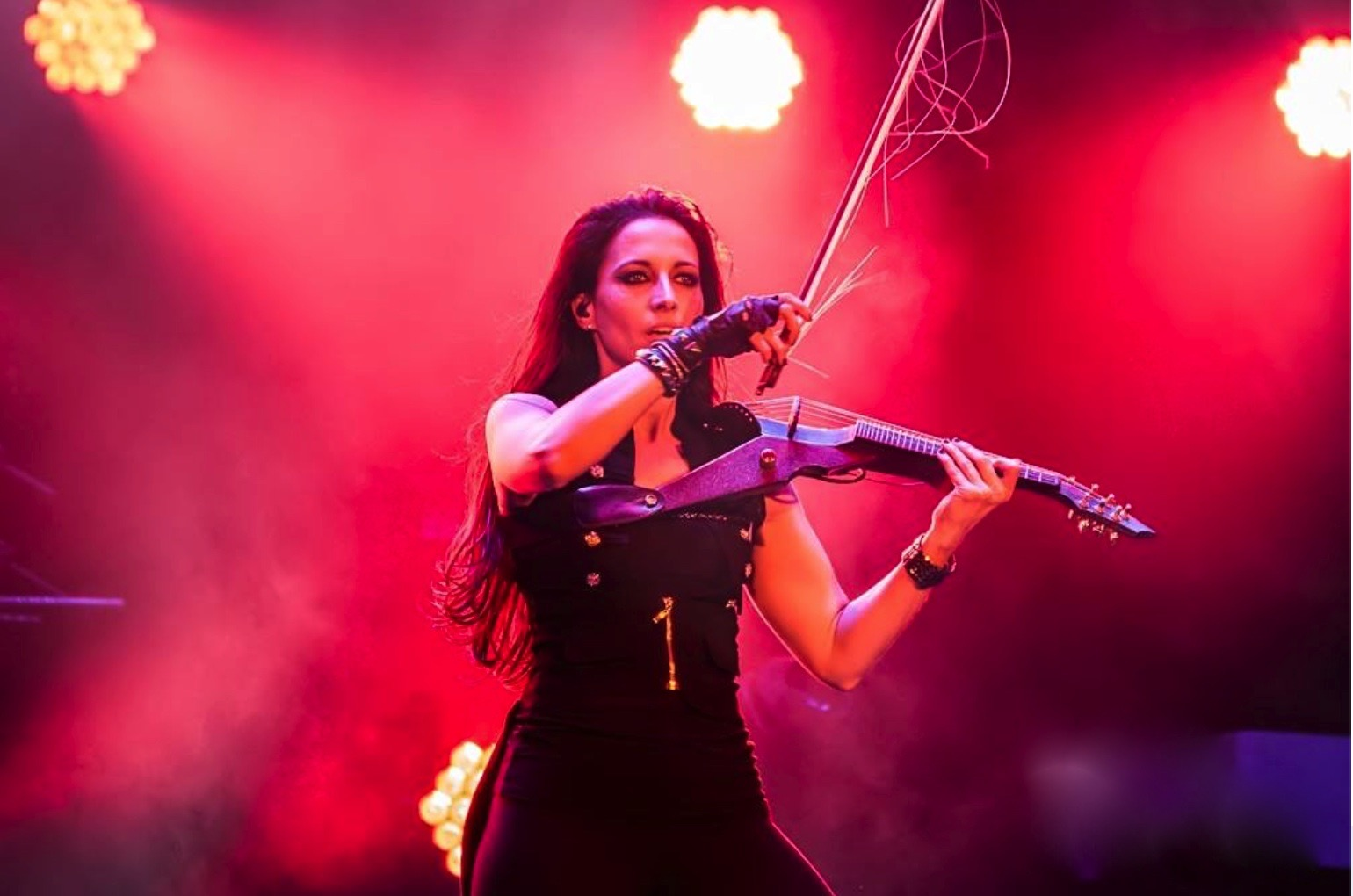 Electric violinist for the Trans Siberian Orchestra