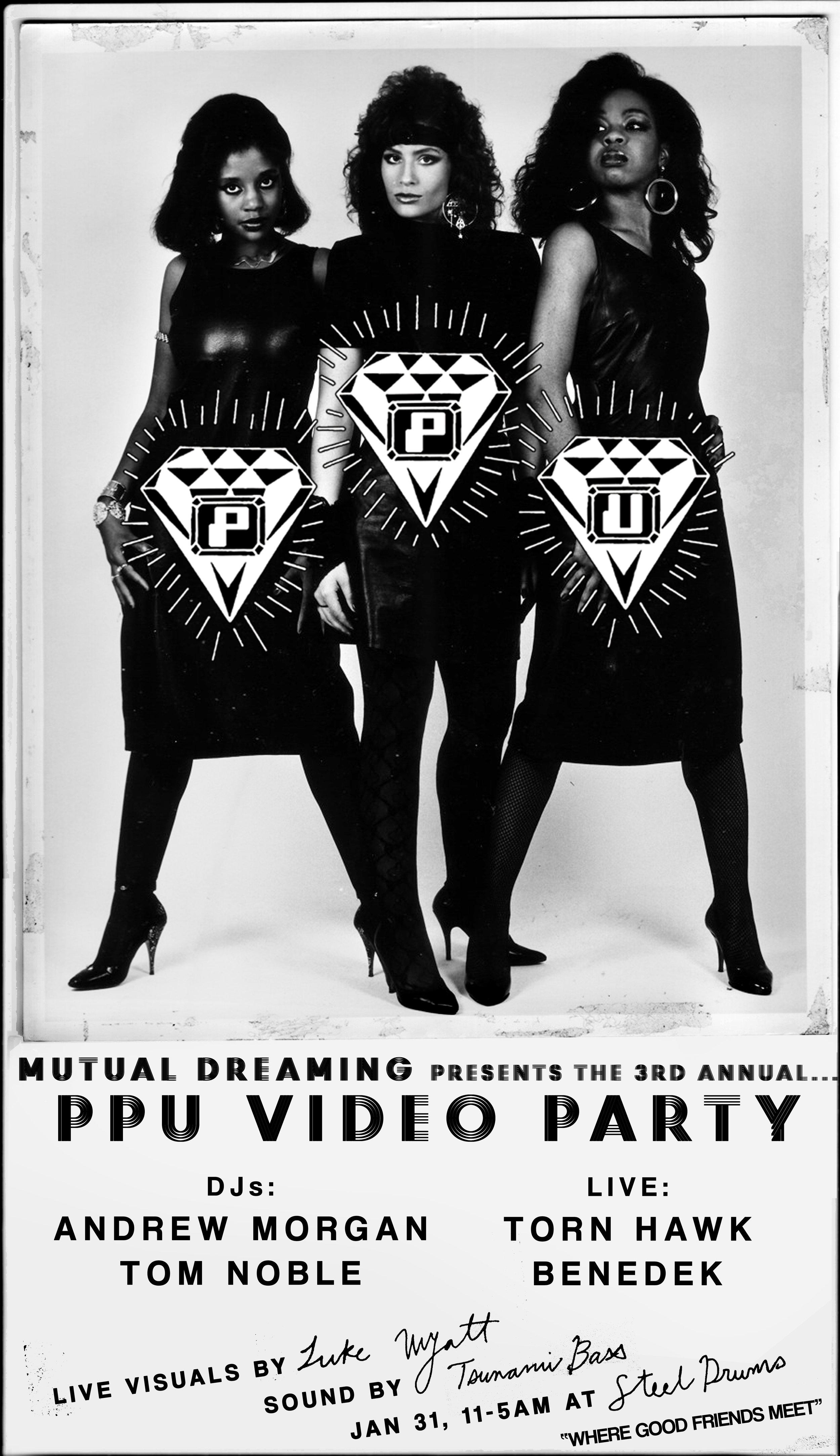 Mutual Dreaming's PPU Video Party Vol 3: Andrew Morgan, Torn Hawk, Benedek, Tom Noble  January 2014