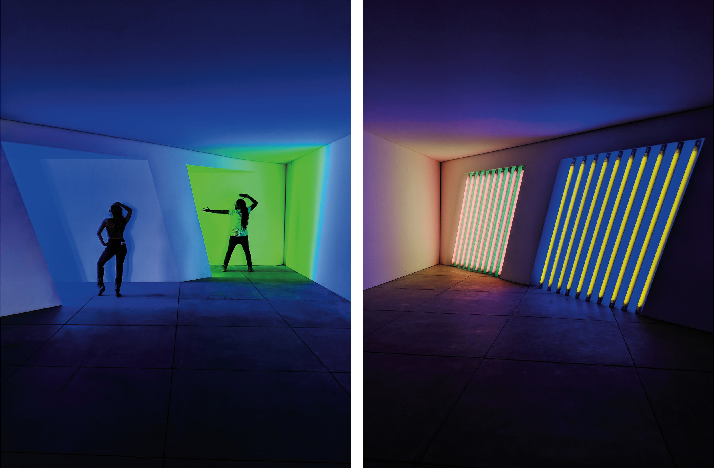 Dan Flavin, untitled (Marfa Project), Wednesday - Sunday, 1pm - 3pm ($10)   Dan Flavin's neon work spans 6 buildings and is SO cool to experience in real life!