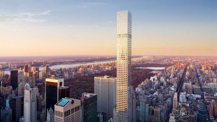 """432 Park is the tallest residential tower in the Western Hemisphere and offers 3 to 6 bedroom residences listed between $16.95MM and $82MM. Rafael Viñoly has giving the tower a striking façade that reflects a blend between the traditional and contemporary architecture. Residences in this condo tower offer solid, white oak flooring, custom eat-in kitchens, central heating and air conditioning and a utility room with full-size washer and dryer. Select residences enjoy service entrances, master bedroom suite with double bathroom, dressing room, and private elevator landing.    Deborah Berke has given the tower spectacular interiors, with generous floor plans, sunlit rooms and custom kitchens that enjoy marble floors and countertops, white lacquer and oak cabinetry, double dishwashers and Miele appliances along with a Miele wine cooler. The tower also offers the services of a concierge, conference room, screening room, and much more.     CITY REALTY ARTICLE     432 Park Avenue is a stunning skyscraper that when built was the tallest in the city without a spire as well as the tallest residential tower. It is 1,396 feet high with 96 floors and 104 condominium apartments.    Harry B. Macklowe and the CIM Group were the developers.    Raphael Viñoly, the architect of the bulbous 20 Fenchurch Street tower in London that is known as the Walkie-Talkie building, was the design architect. SLCE was the """"executive"""" architect.    Interiors were designed by Deborah Burke, Bentel & Bentel, which is the firm that designed 11 Madison Park restaurant and Gramercy Park Tavern.    The building, which is on the northwest corner at 56th Street and goes through to a large mid-block site on 57th Street, was completed in2016.    Part of the building's site was formerly occupied by The Drake Hotel.    Office units are located on the 18th through the 20th floors.    CONTACT US FOR MORE INFORMATION ABOUT THIS AND OTHER NEW DEVELOPMENTS IN NYC, BROOKLYN & QUEENS!"""
