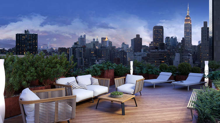 The Vantage features two buildings, housing 94 units offering 1 to 2 bedroom residences designed by Andrés Escobar and listed between $853K and $1.85MM. These condominiums are located in Murray Hill and feature a marquee entrance that starts your journey into the residences with a grand, elegant promise of the contemporary New York City living. The residences exhibit expansive floor plans and custom designs that sum up to give you modern, lux and airy houses embellished with high-performance fittings and fixtures.    The condo offers free Wi-Fi services in all common spaces and a pet-friendly environment, making The Vantage a modernist architectural landmark in an active, bustling neighborhood. A doorman, bike room, gym, elevator, media room, an outdoor entertainment space, lounge, package room, storage trail, and a live-in super are a few examples of the many amenities these condos offer.     CITY REALTY ARTICLE     This 22-story apartment building at 308 East 38th Street on the southwest corner of the Queen Midtown Tunnel Entrance Road between Second and First Avenues in Murray Hill was erected in 2001 by The Clarett Group.    It was designed by Meltzer/Mandl Architects.    It has 94 apartments and was converted from a rental building to a residential condominium in 2017 by Gaia Real Estate, which is headed by Danny Fishman, and the Arco Group which had bought the building, which was formerly known as the Montrose, for $75 million.    It is now known as The Vantage and is across the Tunnel Entrance Road from the Corinthian apartment tower where Gaia had bought 144 rental apartments in 2014 for $147 million.    Andres Escobar did the interiors.    CONTACT US FOR MORE INFORMATION ABOUT THIS AND OTHER NEW DEVELOPMENTS IN NYC, BROOKLYN & QUEENS!