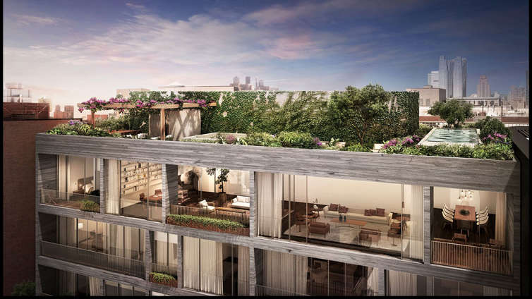 Featuring 2 to 4 bedroom residences priced from $4.725 MM, as well as a 4-bedroom penthouse with a private terrace, Jardim is the Brazilian architect, Isay Weindfeld's debut NYC building. The façade is luxe and flaunts the floor-to-ceiling windows of the residences. The interiors are embellished with sliding glass doors and open, spacious floor plans, thermal and acoustic insulation and custom kitchens equipped with Italian cabinetry by Molteni and doors and walls of an enticing honey-colored American oak. The full-floor residences enjoy direct private elevator access and sum up the true meaning of a cosmopolitan, elegant, and deluxe living in NYC. The amenities are carefully curated and include a lobby, spas, 24-attendant, sky-lit indoor pool, fitness center, event prep room, kids' playroom, laundry room, and purchasable private storage lockers for residents.    CITY REALTY ARTICLE    This apartment complex consists of two differently massed and styled 11-story buildings at 527 West 27th Street near the High Line in Chelsea was scheduled for completion in 2016.    The project is known as Jardim and has 36 condominium apartments.    The developer is Centaur Properties and Greyscale Development Group.    Isay Weinfeld is the architect. Future Green Studios is the landscape architect.    It is just west of a 39-unit single-building project of a much more curvaceous but similar height designed by Zaha Hadid, who died in 2016.    CONTACT US FOR MORE INFORMATION ABOUT THIS AND OTHER NEW DEVELOPMENTS IN NYC, BROOKLYN & QUEENS!