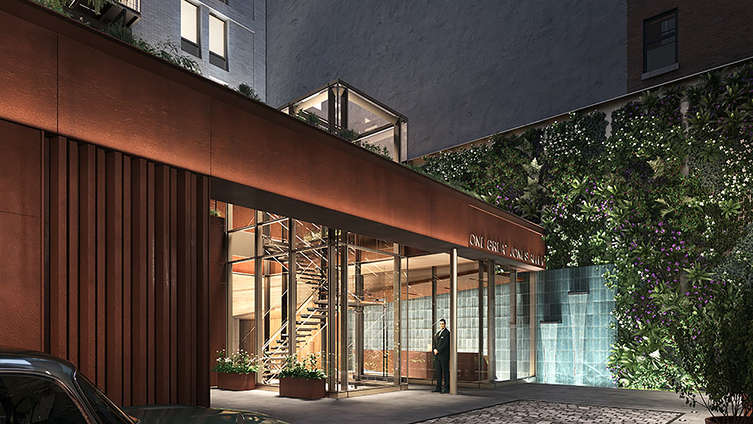 Situated in the heart of Noho, this boutique condo building, designed by BKSK, with terracotta façade mimicking cast-iron, features 2 to 4 bedroom units listed from $4.75MM to $8.95MM.    At just a short stroll from Washington Square Park, 1 Great Jones Alley is a design-driven retreat of highly livable comfort spotted in a private, gated drive. The floor-to-ceiling windows, high ceilings and muted hues inside the homes carefully craft a contemporary, luxurious, and elegant living. In the baths, Dornbracht rose-gold copper fixtures ensure a premium setting. A robust amenity package features a doorman, hot tub, central air-conditioning, basement storage, glass jewel box staircase to a petite garden, elevator, fitness center, and terraces, with a bustling neighborhood housing famous galleries and art spaces like the Aicon, Eric Firestone, and Karma.     CITY REALTY ARTICLE     This 12-story luxurious boutique residential condominium building at 1 Great Jones Alley is scheduled for completion by Madison Realty Capital, which is headed by Brian Shatz, in 2017.    It has been designed by BKSK Architects and its main façade with vertical, thin, terra-cotta fins with fenestration patterns that alternate by floor is similar to a limestone one they used nearby 25 Bond Street.    The building, which is also known as 688 Broadway, has 14 apartments and 6,084 square feet of retail space.    It is on the site of an outdoor flea market that just to the south of a large Tower Records store that no long exists.    The alley is between Broadway and Lafayette Street, off Great Jones Street.    HMWhite is the landscape architect.    CONTACT US FOR MORE INFORMATION ABOUT THIS AND OTHER NEW DEVELOPMENTS IN NYC, BROOKLYN & QUEENS!