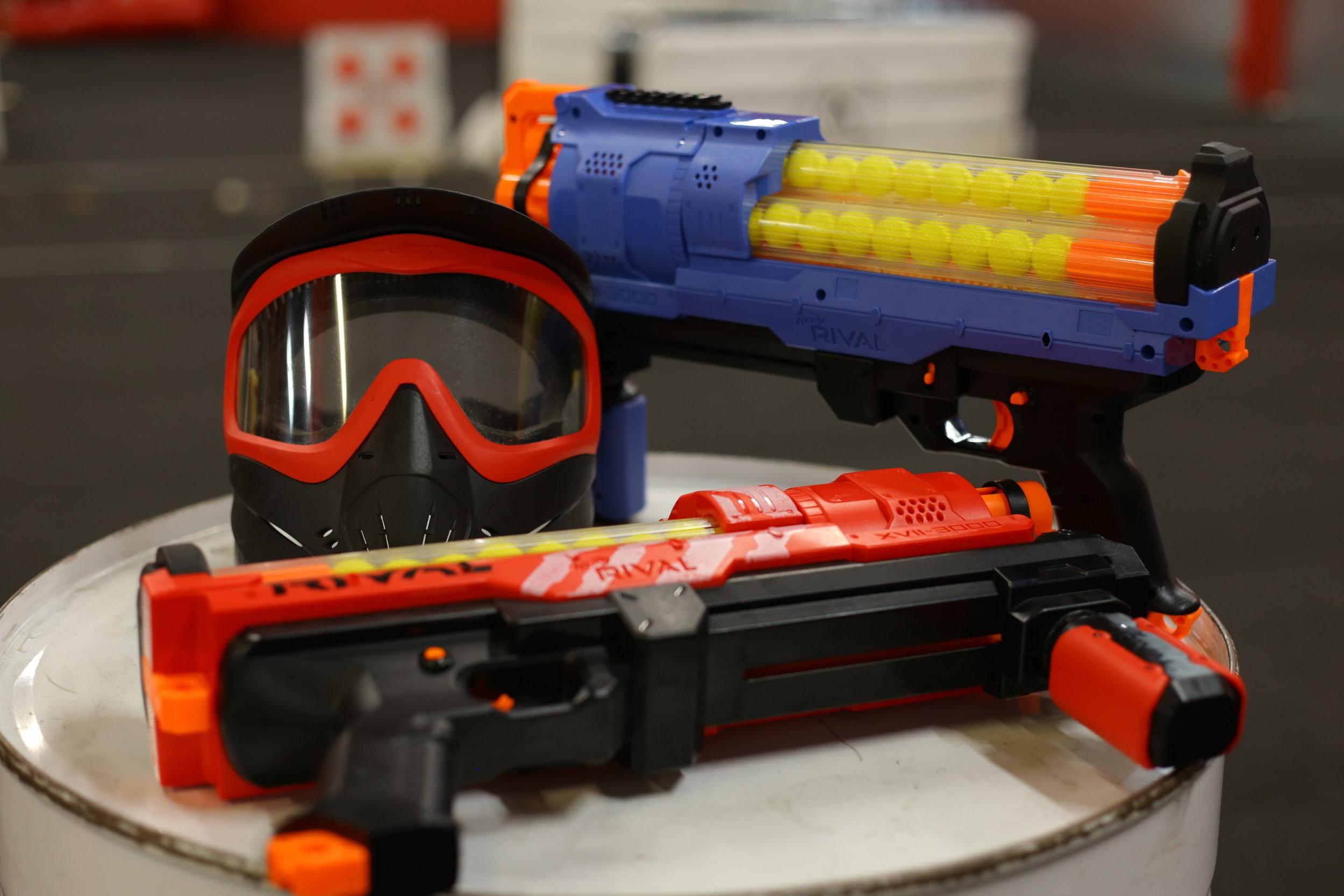 toronto nerf wars blue Elite Ex-3 strongarm archers arena nerf combat battle.JPG