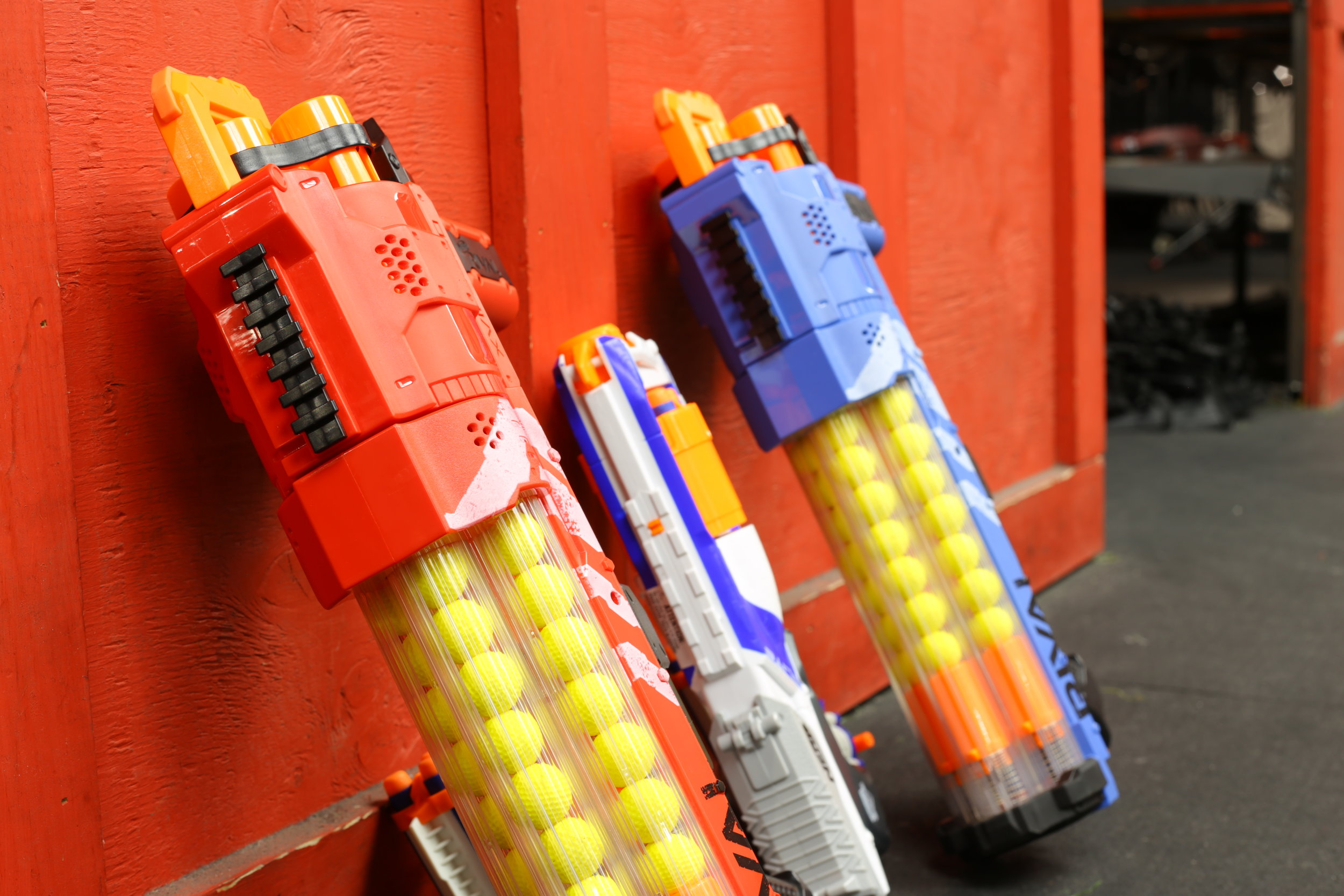 toronto nerf wars red rival blue Elite Ex-3 archers arena nerf combat battle.JPG