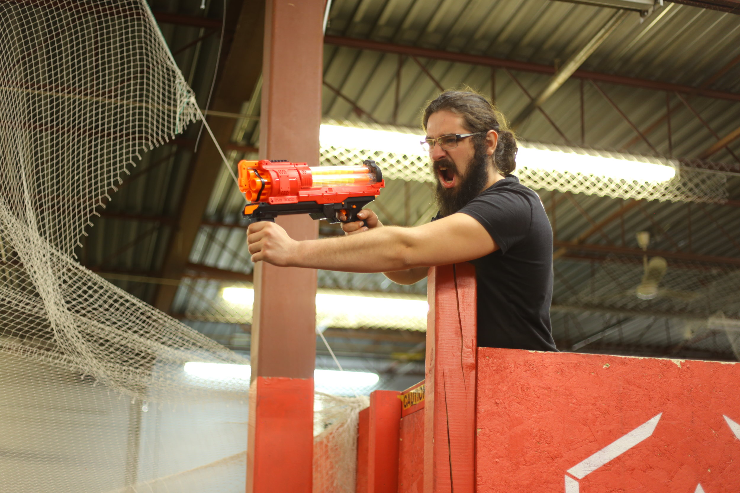 toronto nerf wars sniper tower red rival Ex-3 archers arena nerf combat battle.JPG