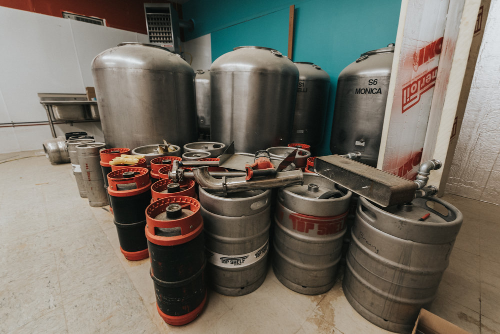 Organizing and cleaning up our barrels and kegs. Photograph by Drew Hines  https://www.hinesightimagery.com/blog/2017/2/19/brewing-company-comes-to-tilton-nh