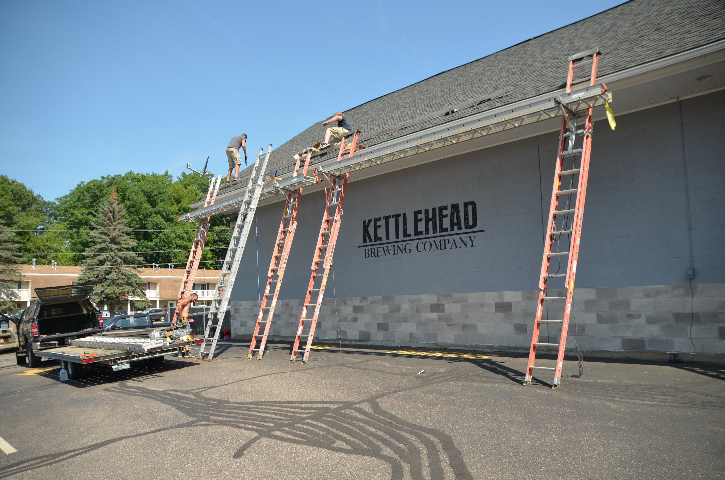 Preparing the roof for solar panels