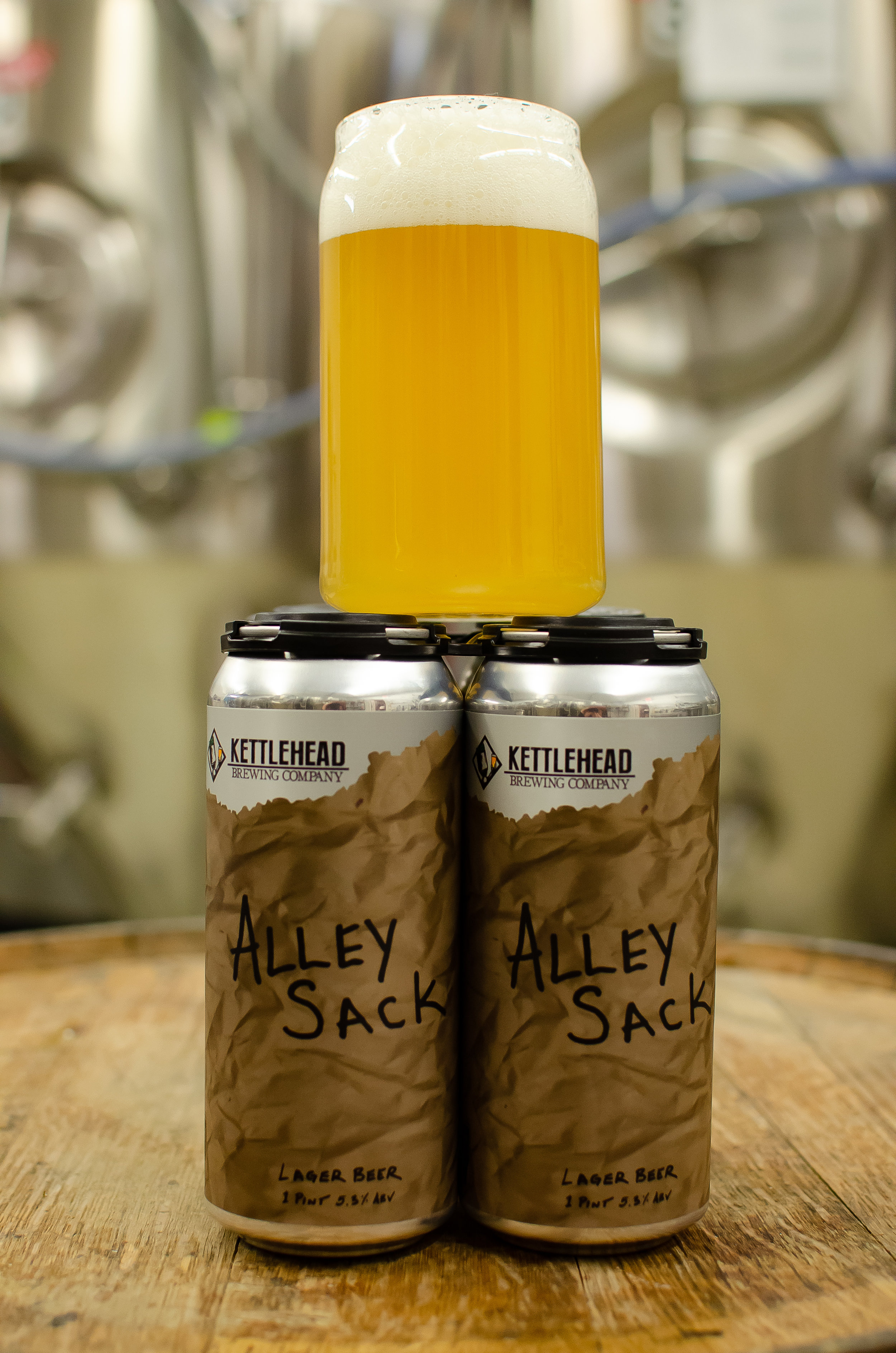 Alley Sack Lager Beer, 5.3% - Designed with high drinkability in mind. this is a light, crisp lager modestly hopped. This could be considered the gateway drug for entry level craft beer enthusiasts.