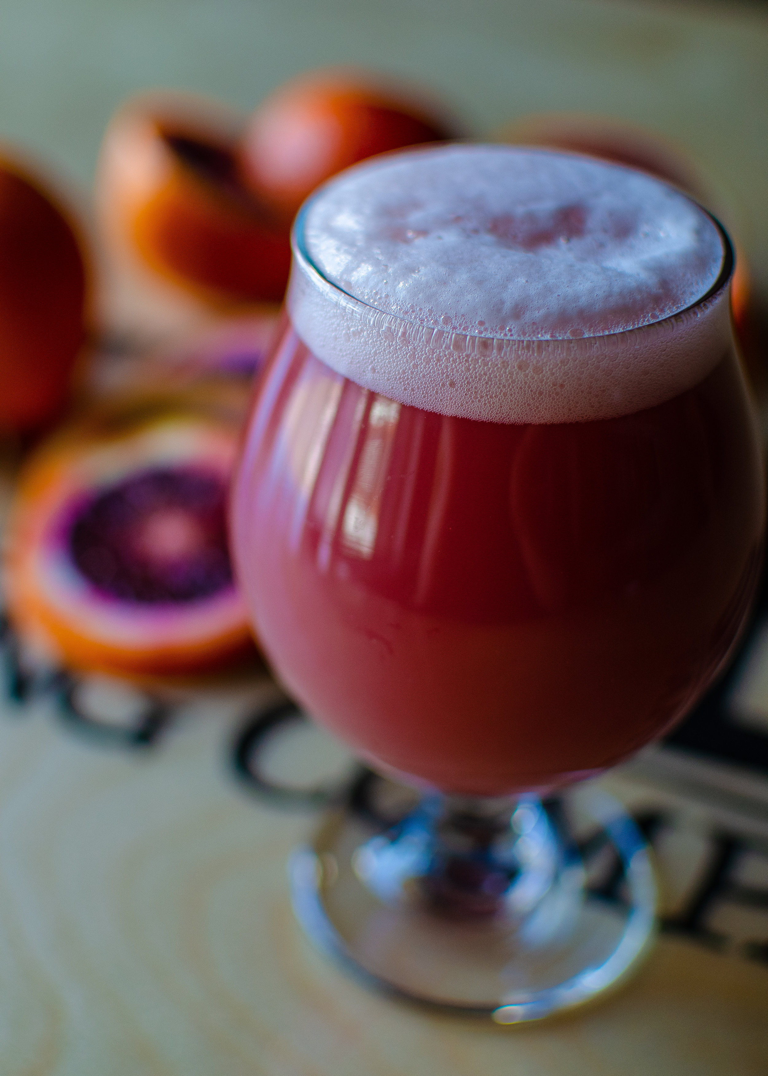 Fresh Blood, DIPA, 7.9% - Brewed with blood orange and Japanese Yuzu for big fruity, orange citrus character
