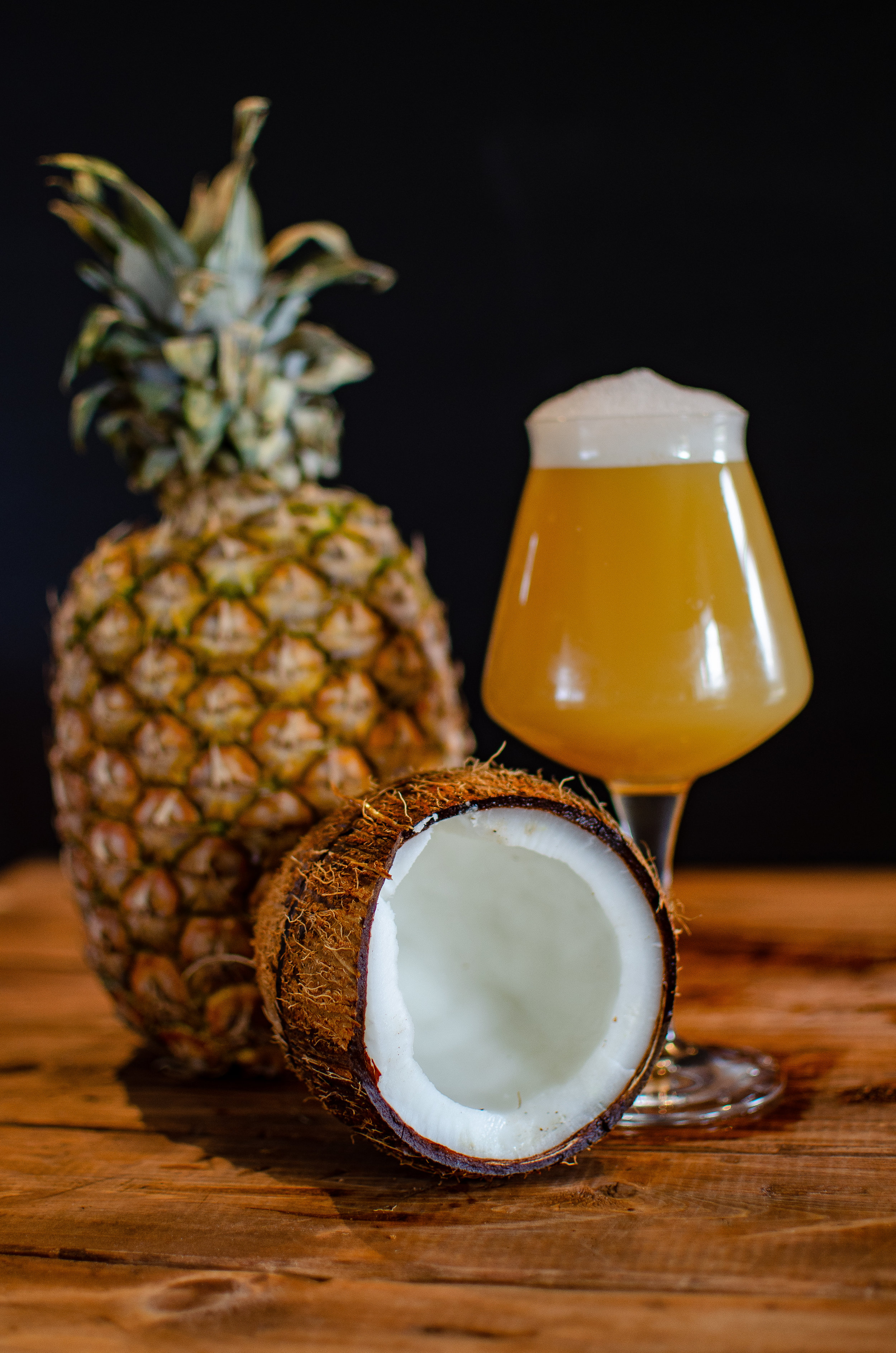 Aloha Summer, Session IPA - A session IPA with pineapple, coconut, and milk sugar added to create a Pina Colada inspired beer. Slim and trim at 4% abv. This summer slammer won't leave you caught in the rain or face down in the sand.I was tired of my IPAWe'd been together too longLike a worn out recordingOf our favorite songSo while I lay there drinkingI read the Facebook in bedAnd on the Kettlehead pageThere was this post that I read...If you like Pina ColadasAnd getting hops off your brainIf you're not into dark beerIf you want a new strainIf you like drinking till midnight and pounding the beersI'm the love that you've looked forALOHA SUMMER is here ☀️🥥🍍