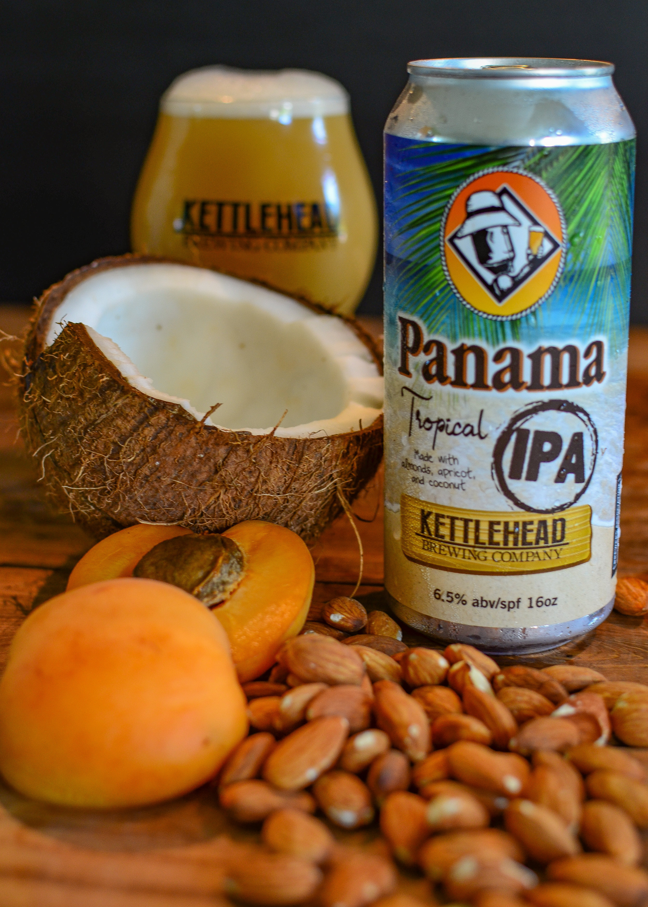 Panama, IPA 6.5% - An island-inspired beer, brewed with almonds, toasted coconut, apricot, and a mix of juicy hops with flavors of melon and citrus.