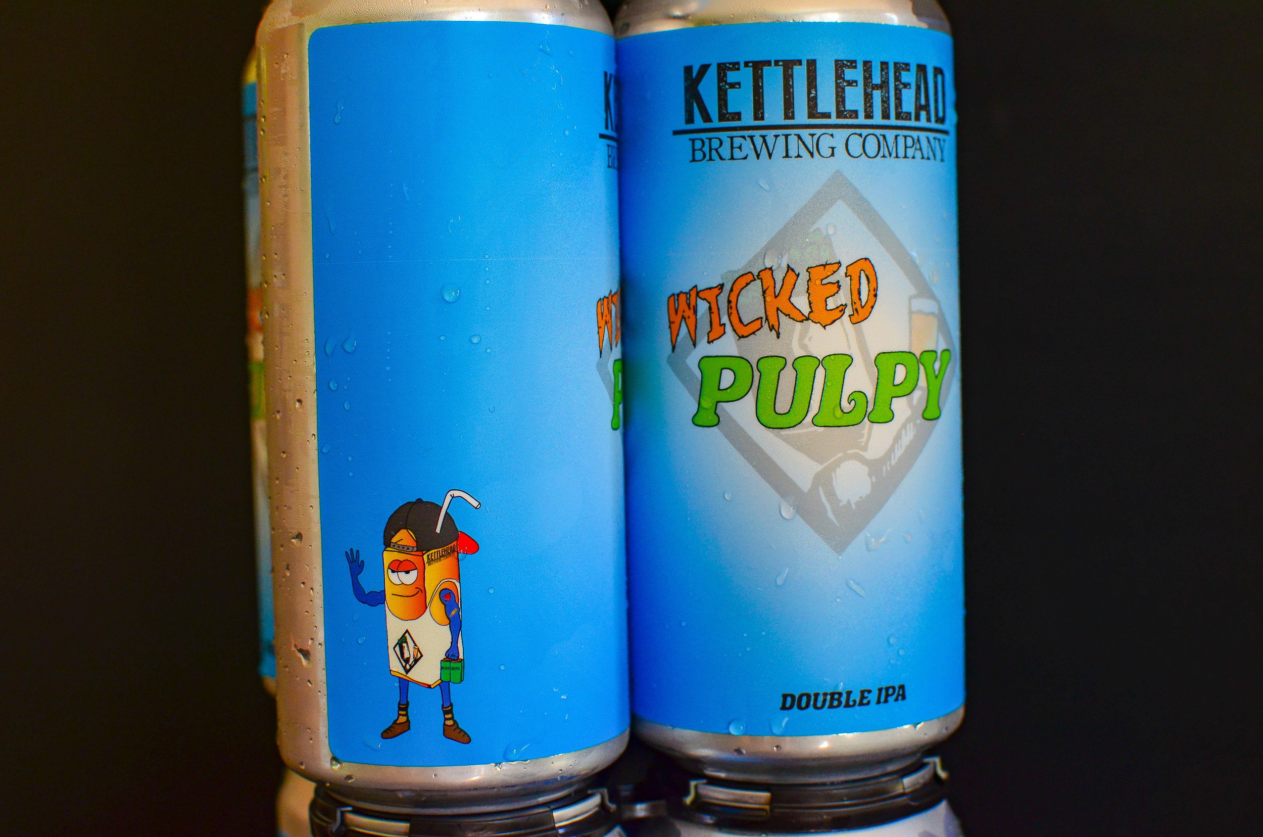 Wicked Pulpy, DIPA - Say hello to Wicked Pulpy, he's a big brother who's never lost at arm wrestling. He enjoys throwing caution to the wind when dry hopping and pushing DIPA's to the limit. If you're like him and like to live on the edge, this beer is for you.