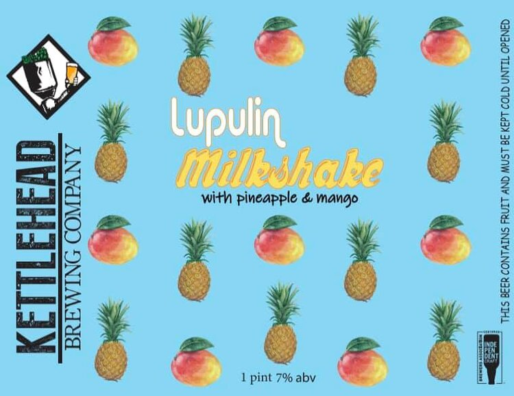 Lupulin Milkshake with Pineapple Mango, 7% - LUPULIN MILKSHAKE with pineapple & mango. We feel this is our best milkshake ipa to date. Big, ripe mango and pineapple dominate, silky smooth finish from the milksugar, and topped off with a nice mosaic hop punch.