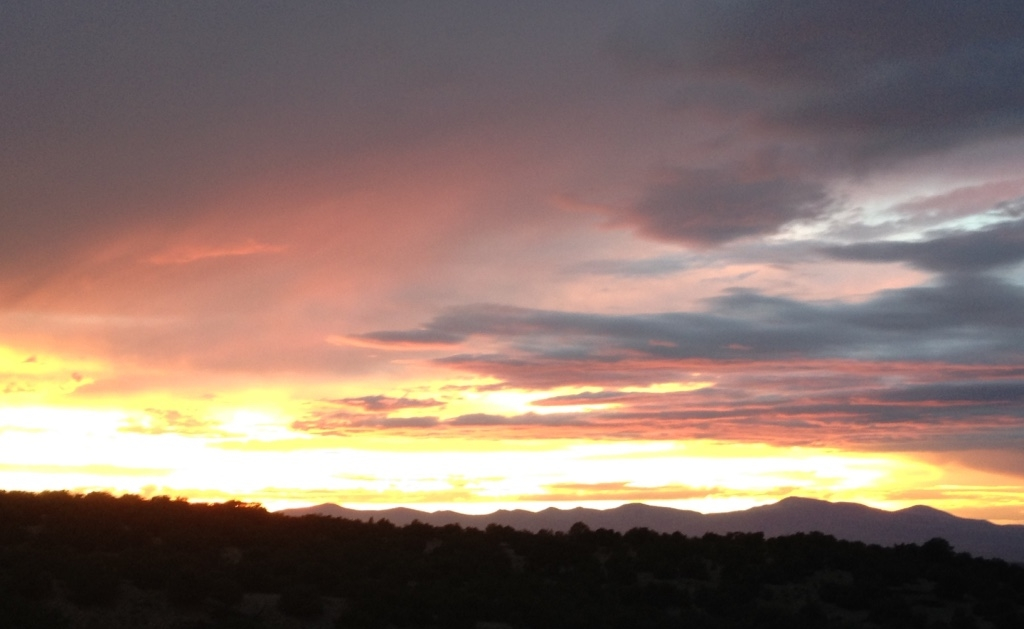 Sunset from the Crosby Theater at The Santa Fe Opera