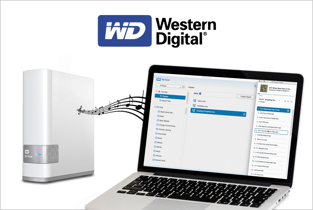 WD My Cloud Music Player -