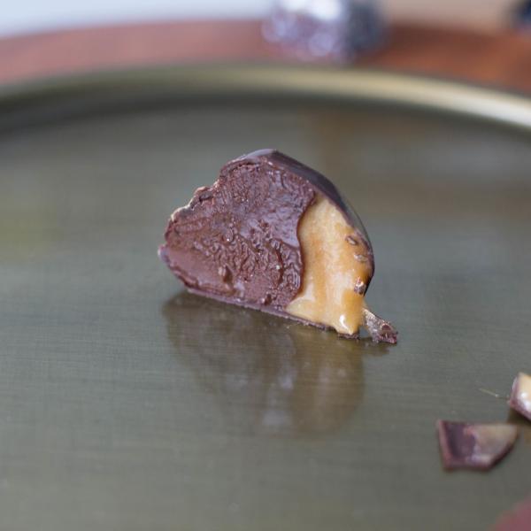 Ardbeg Peated Whisky Caramel with Bolivia Dark Chocolate Ganache