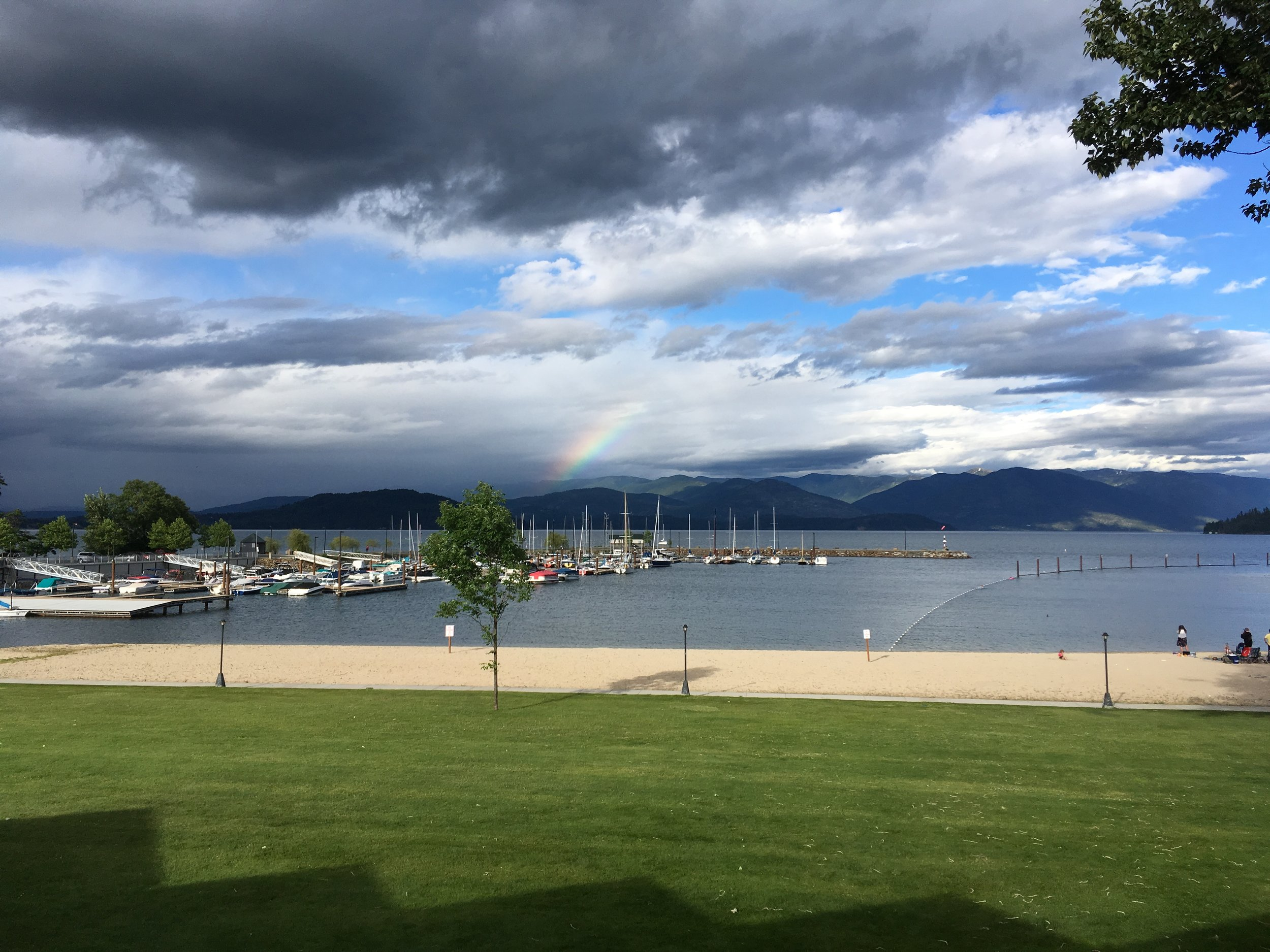 City Beach. Sandpoint, Idaho