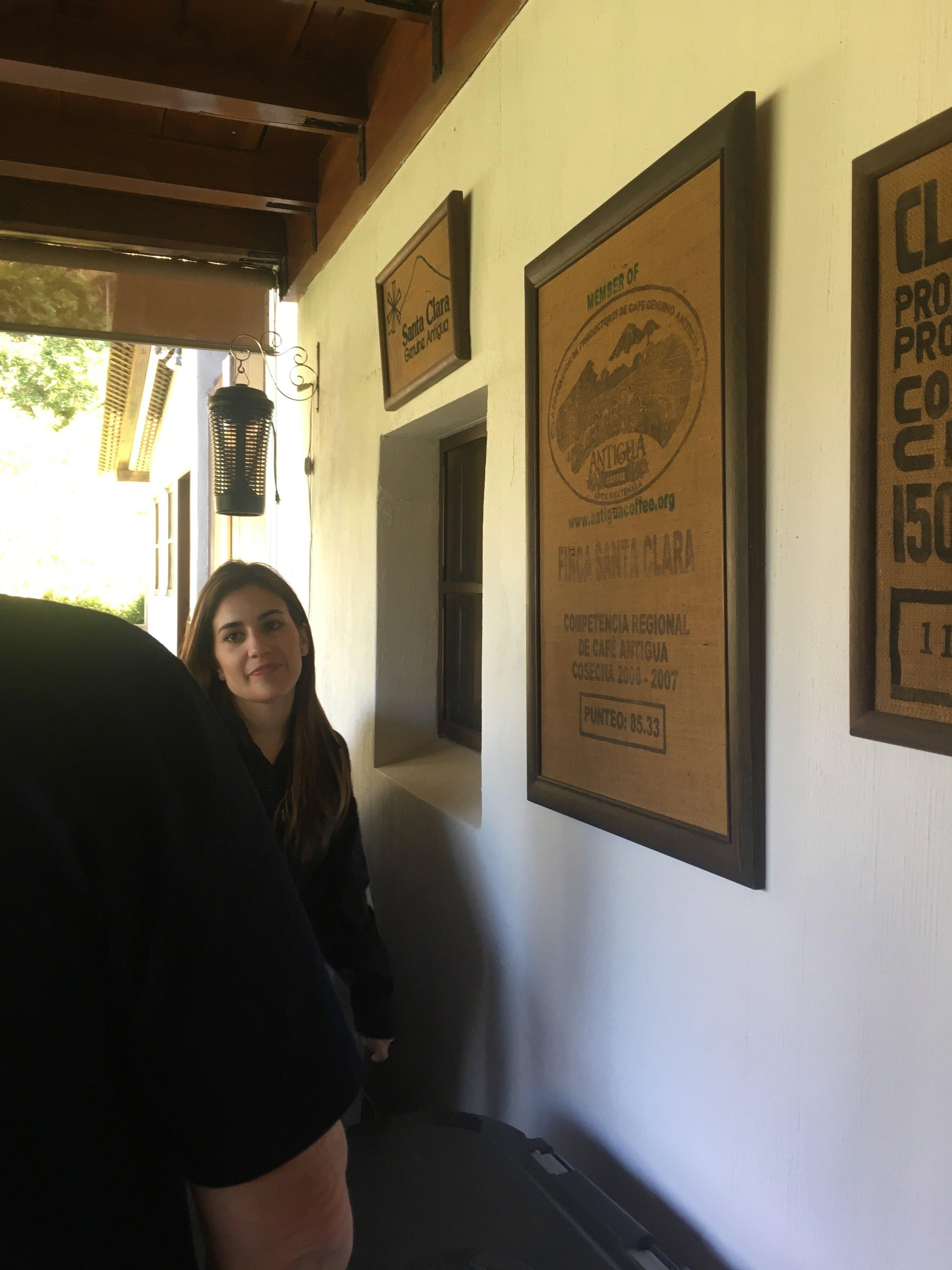 Katia at Finca Santa Clara.