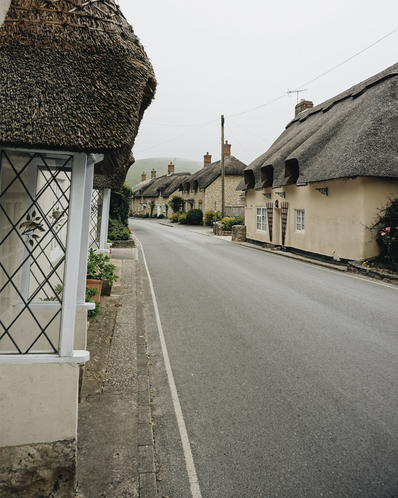 The picturesque streets on West Lulworth