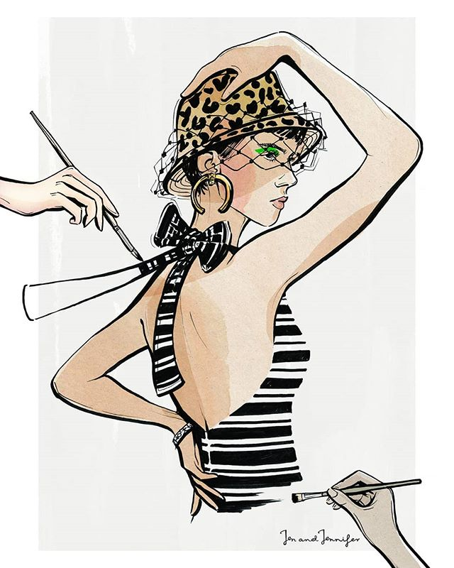 Creating outfits is an art 🎨... (Thanks to @dior I have a sudden urge to buy a bucket hat now) #fashionillustration