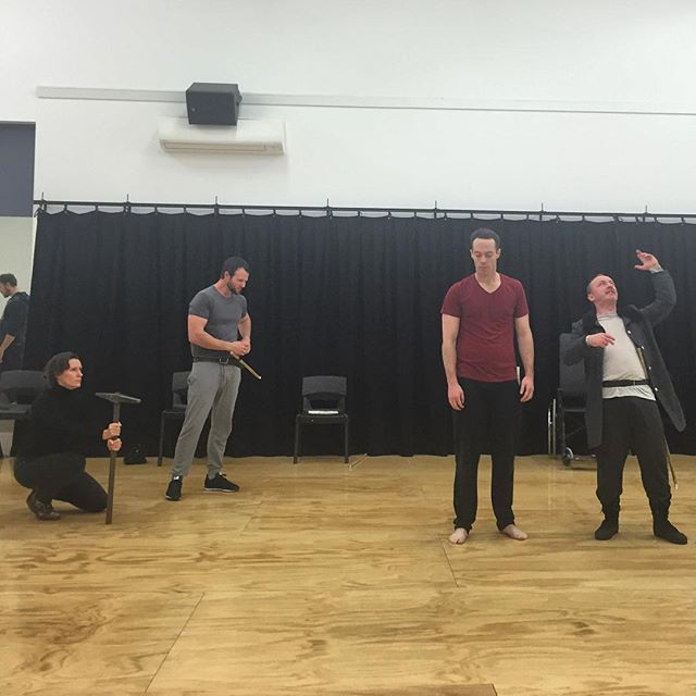 We are one week out from our first preview. All tickets for the preview will be $20- get on it!  #thetragedyofcoriolanus #burninghousetc