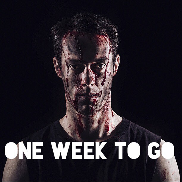 Opening next Friday night @theatreworksstkilda Ignore Toms face.... We're actually really excited! Tickets through the theatreworks website. #burninghousetc #thetragedyofcoriolanus
