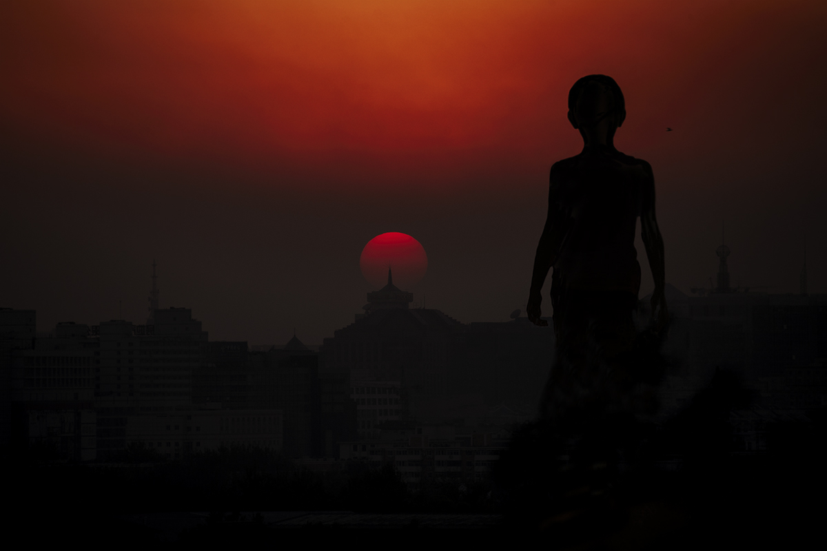 Sunset Boy, 2008, Beijing  - 90 x 60 cm, Platinum Lustre Rag Archival paper. Edition of 3. No. 2 available.