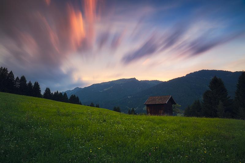 0.6 Soft Edge Verlaufsfilter um den himmel abzudunkeln / ND Filter um die Bewegung der Wolken abzubilden