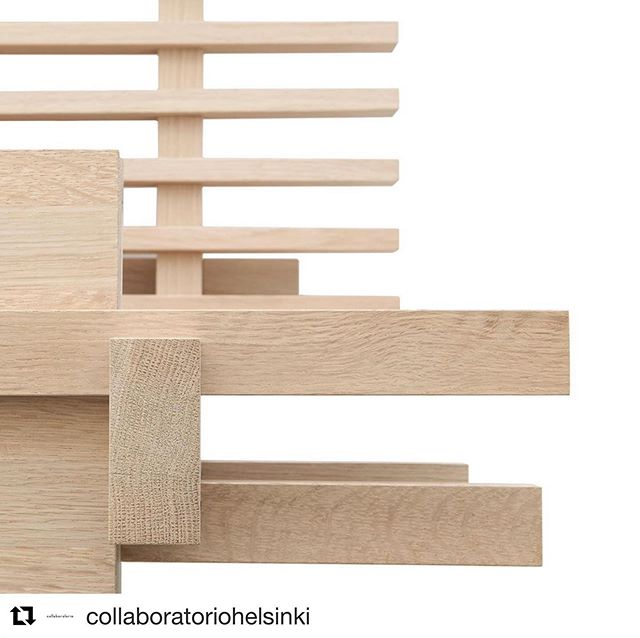 #Repost @collaboratoriohelsinki with @get_repost ・・・ We are glad to announce the first piece of furniture designed by Collaboratorio, The Cubile bed: it is named after the beds of Ancient Rome: in addition to an actual bed, the word cubile denotes more generally a place of rest. The beautifully natural untreated massive oak highlights Cubile's simple form and brings a sense of calmness to the bedroom, and it can be also placed in the middle of the room as a spatial element. Cubile is assembled without screws or tools. The Cubile bed can be supplemented with a headboard and a night stand desk. Cubile is made in Finland by @pslwooden . Available worldwide from @finnishdesignshop  https://www.finnishdesignshop.com/Collaboratorio-d-1244.html Photos by Chikako Harada. . . #collaboratoriodesign #collaboratoriohelsinki #finnishdesign #finnishdesignshop #noglue #noscrews #massiveoak #ancientwisdom #untreated #bed #detail #joints #furnituredesign #finland #lahandira #chikakoharada