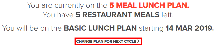 "Click ""Change Plan for Next Cycle"""