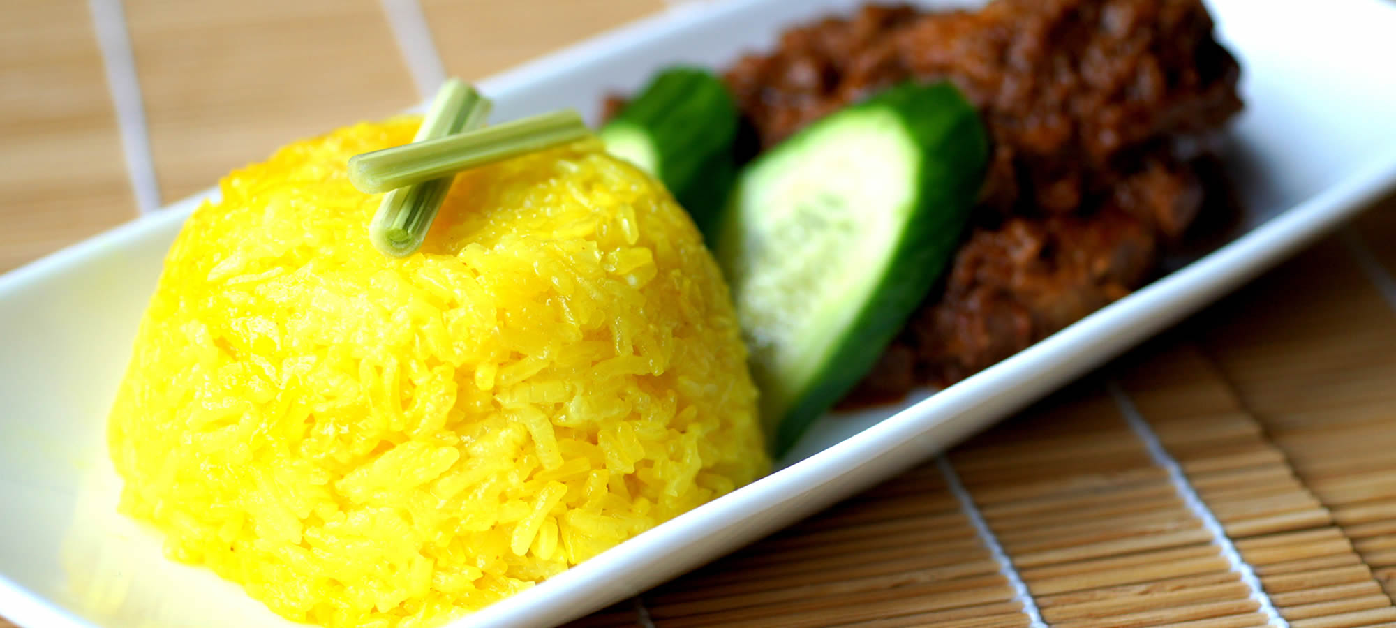 Beef Rendang with Yellow Rice