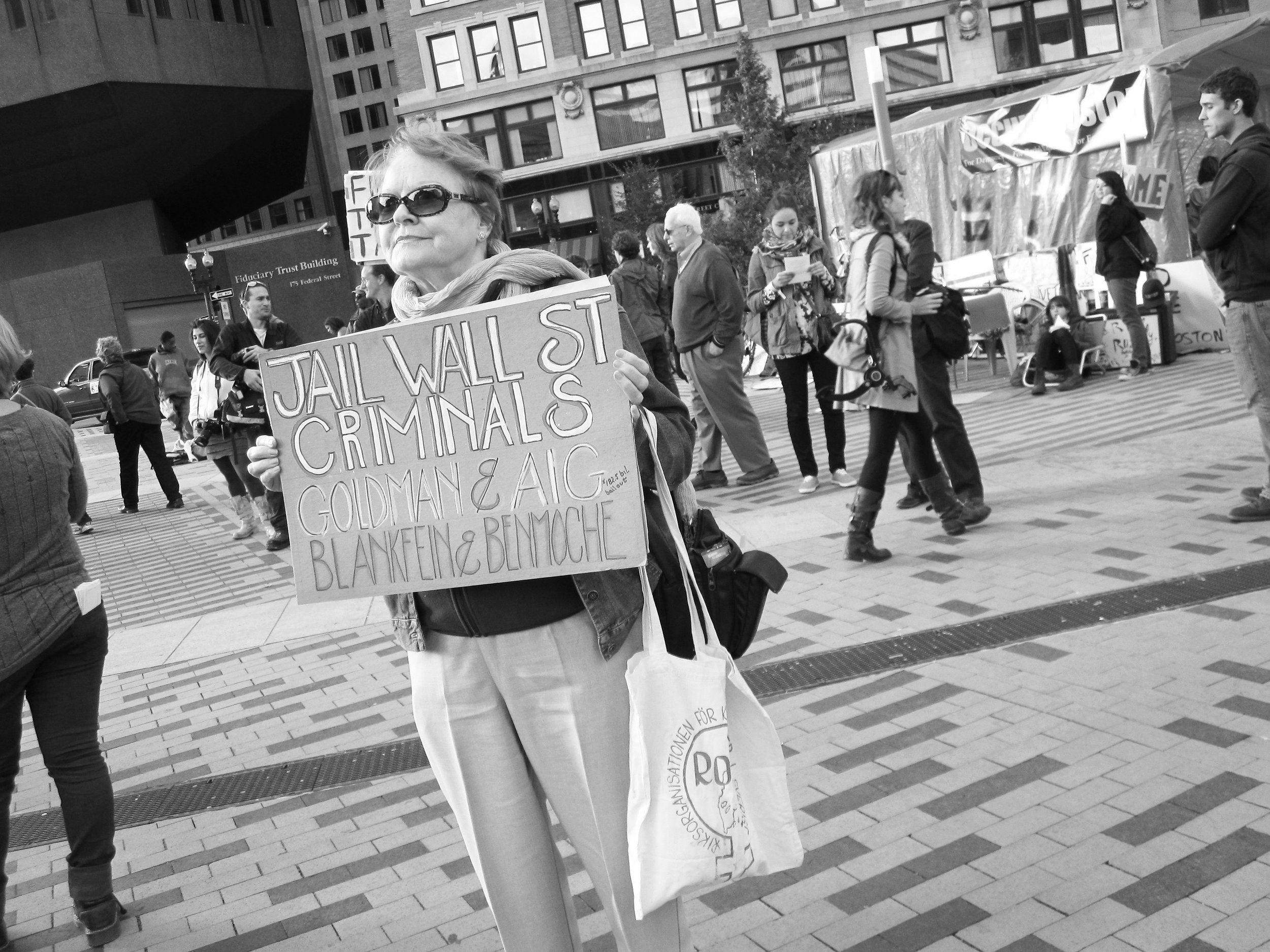 Occupy Boston, Dewey Square, October 16, 2011.